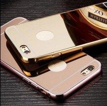 2016 new luxury mobile phone bag coque aluminium alloy back cover i phone5 phone6 Mirror case