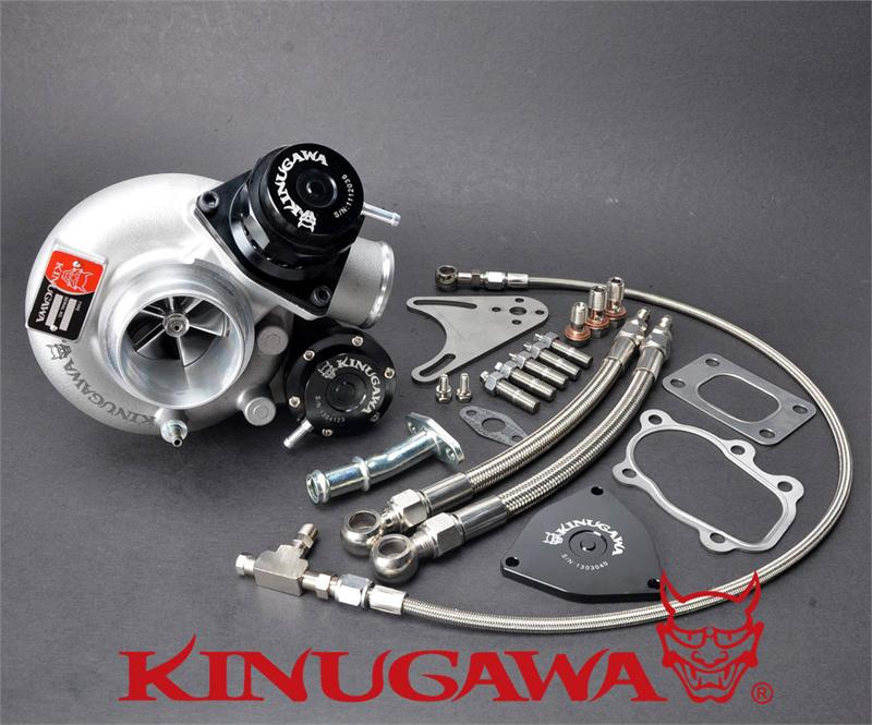 Kinugawa Billet Turbocharger 2 4 TD05H 18G 8cm T25 5 Bolt Internal Gated w Blow Off