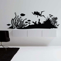 Aquarium Wall Decal Wall Stickers Decal Sticker Decals Diving