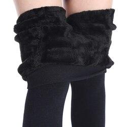 NORMOV femmes hiver Plus cachemire Leggings mode grande taille chaud Super élastique Faux velours hiver épais Slim Leggings