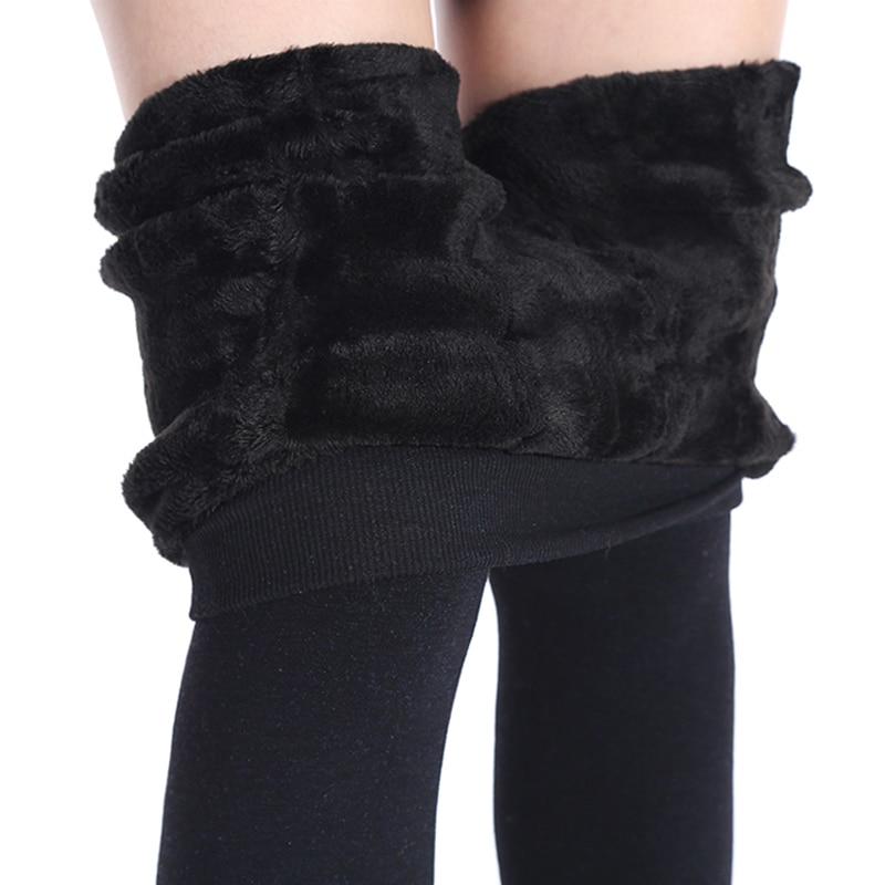 NORMOV frauen Winter Plus Kaschmir-leggings Mode Big Size Warme Super Elastische Faux Samt Winter Dick Schlank Leggings