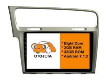 Acht Kern Android 7.1.2 2 GB RAM OTOJETA auto dvd FÜR VOLKSWAGEN VW golf 7 2013 touch screen stereo radio gps 1080 P WIFI 3G/4G