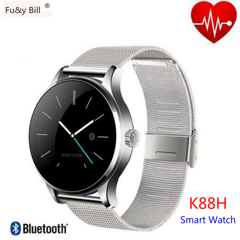 New Fashion Round Screen K88H Bluetooth Smart font b Watch b font Android IOS font b