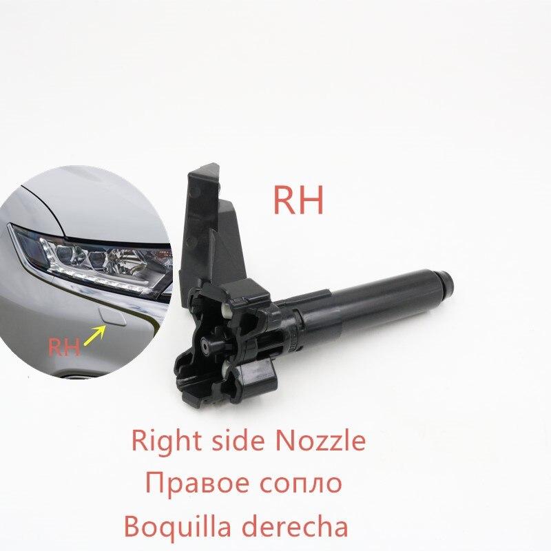Налобный распылитель для омывателя Форсунка с крышкой для Mitsubishi Outlander - Color: Right Washer nozzle