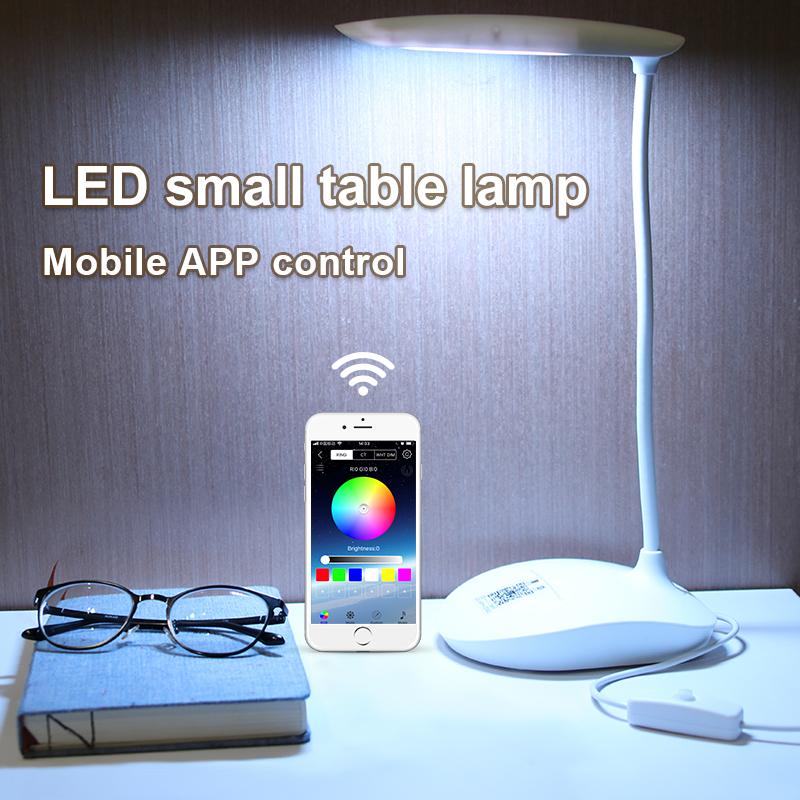 USB LED Table Lamp Light Student Children Bedroom RGB LED Desk Lamp White Study Table Light Dimmable Reading Desk Lamp For Table