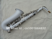 Wholesale- Very nice white alto saxophone surface of nickel silver