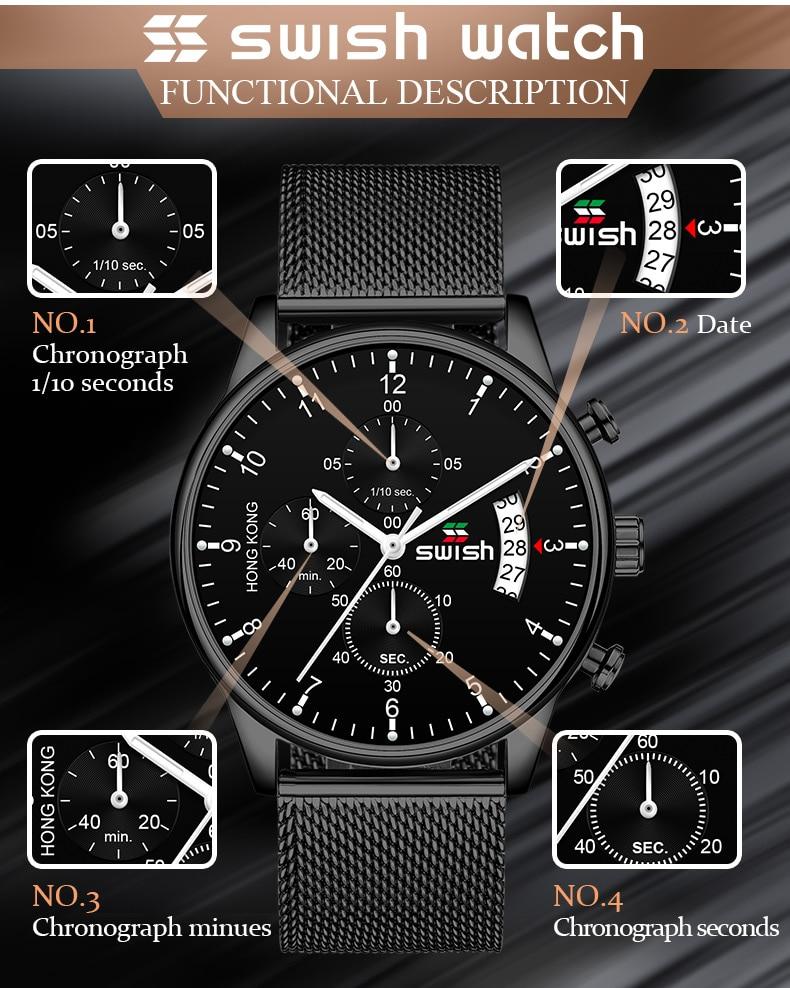 HTB1OJNeUHvpK1RjSZFqq6AXUVXaA SWISH 2019 Top Brand Luxury Mens Watches Waterproof Stainless Steel Wristwatch Mens Chronograph Casual Quartz Watch