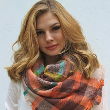 The Pumpkin Patch~Plaid Oversized Blanket Scarf Tartan Scarf