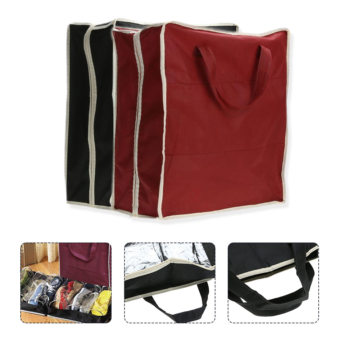 Flash Drives Power Bank Mouse BUBM 4Pc Electronic Travel Case Bag Set -Cables