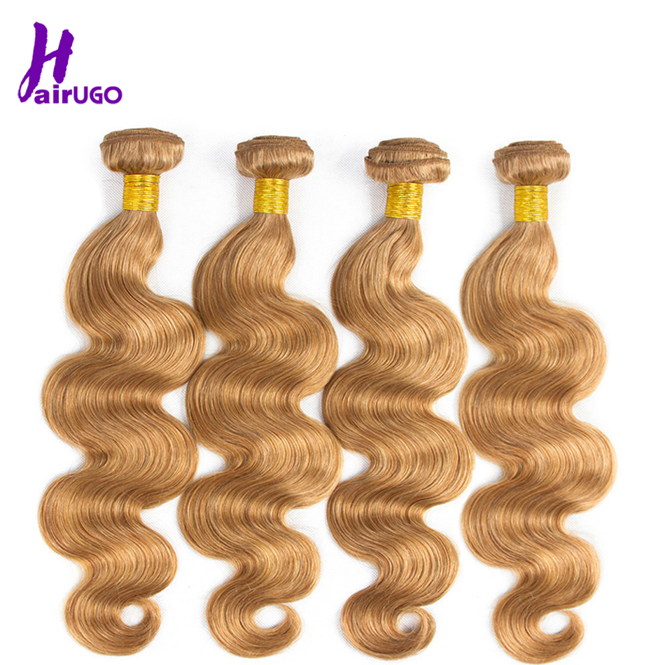 HairUGo Ombre Human Hair Bundles Body Wave Brazilian Hair Weave Bundles Deal Double Weft 8-26 Inch Remy Human Hair Extensions