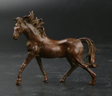 70MM/2.7 Collect Curio Rare Chinese Fengshui Bronze Zodiac Animal Horse Statue Fine Statuary 79g