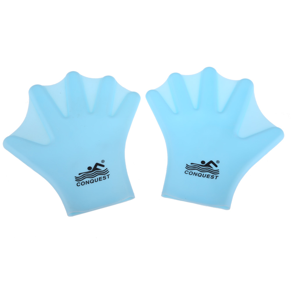 Swimming Webbed Glove Adult Frog Flippers Finger Fin Diving Hand Wear Silicon Swimming Sports Paddle Training Fingerless Gloves