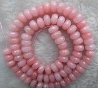 Brinco brincos vente Chaude >@@ N711 5 Strand 5x8mm À Facettes Rose GEM Perles Rondelle Lâche 15