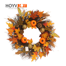 HOYVJOY Harvest Pumpkin Wreaths Pine Cone Maple Leaf Chirstmas Decorations For Home Door Wall Decor export quality standard without any additive 100g harvest in remote mountain 99% cracked cell wall pure pine pollen tablets