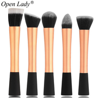 High Quality 5PCS Professional Makeup Brushes Set Cosmetic Brush Face Blusher Foundation Tools Professional Make Up