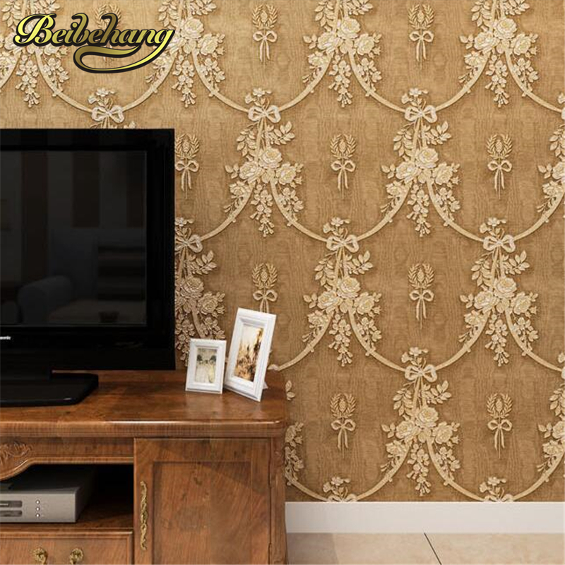 beibehang Luxury European style wallpaper alphabet pattern papel de parede embossed wall paper golden wall covering for living 2 port usb 3 0 male to motherboard 20 pin male cable converter blue 15cm