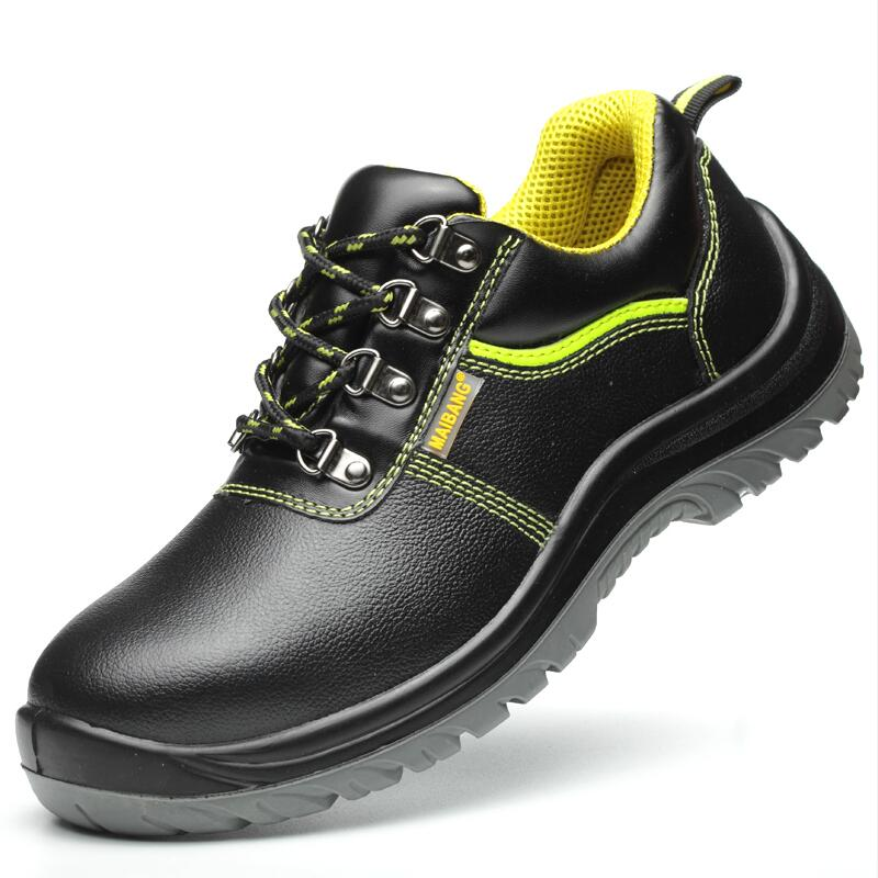 large size 45 46 men fashion steel toe covers work safety shoes genuine leather site tooling low boots security footwear zapatos
