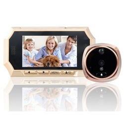 4,3 дюймовый дверной Видеозвонок ЖК дисплей цвет экран зритель в дверном глазок камера фото/видео запись ИК обнаружения движения мини двери