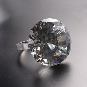 Image 4 - Kreative Transparent Großen Kristall Diamant Hochzeit Ornament Prop Zu Geben Freundin Geburtstag Valentinstag Geschenk Home Kunst Handwerk
