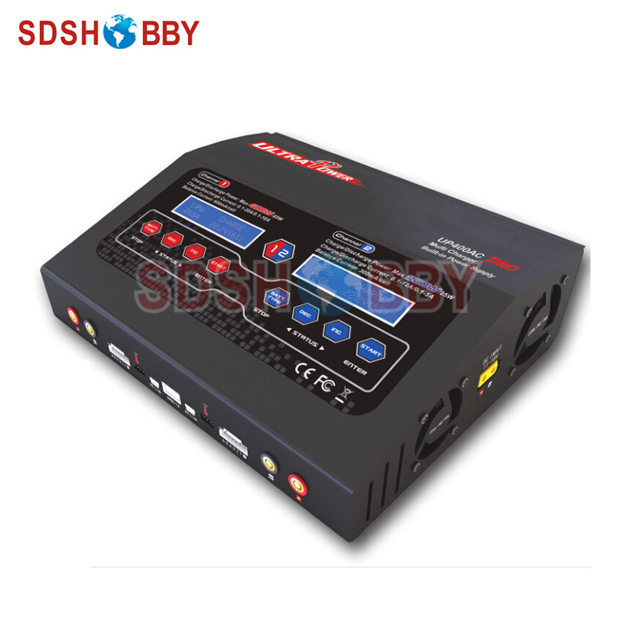 Ultra Power Charger 400W 20A Dual Output / High Power Supply UP400AC DUO / Lipo Battery Charger Support AC/DC Input ultra power up300ac 300w lipo battery charger