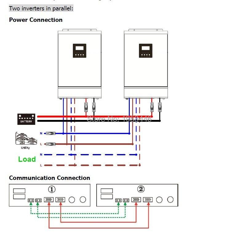 Easun power mppt solar inverter 80a 10000w off grid inverter 48v two inverter parallelg cheapraybanclubmaster Images