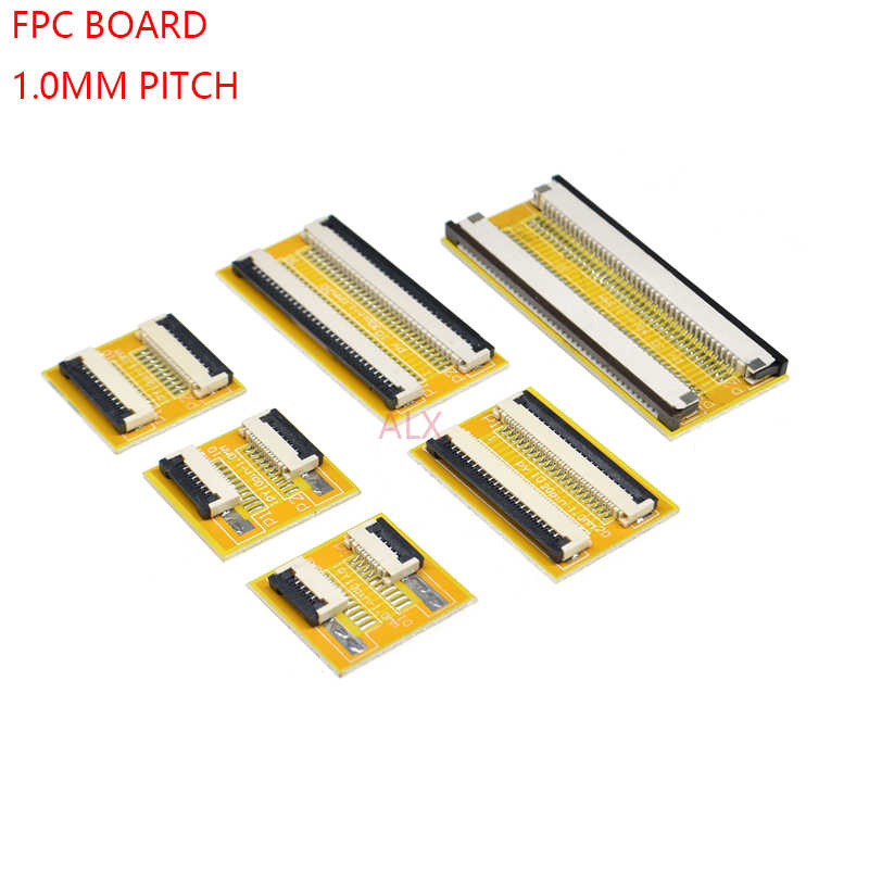 2 PCS FPC FFC Flexibele Platte Kabel Extension Board 1.0mm Pitch 6 8 10 12 14 20 30 40 50 PIN Connector