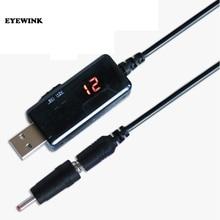 USB 昇圧コンバータ DC 5V 9V 12V USB ステップアップコンバータにケーブル + 3.5 × 1.35 ミリメートルのコネクタ電源/充電器/電源コンバータ
