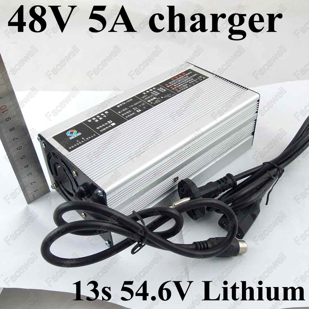 aliexpress com   buy gtk 48v 5a battery charger lithium rapid charger 54 6v cc cv 5a dc polymer