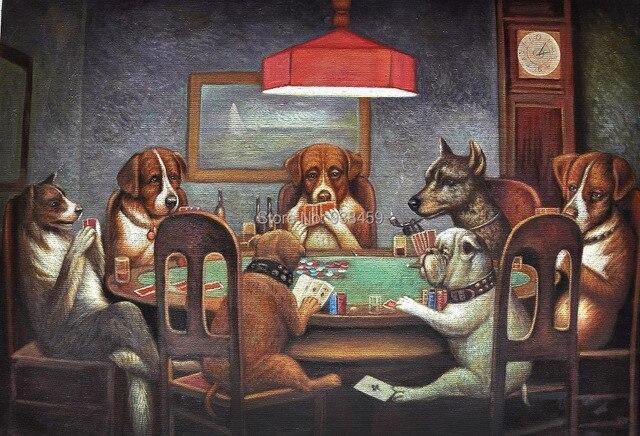 Картина с собаками которые играют в карты скрим играет на аим карте