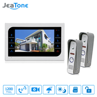 JeaTone 7 TFT 1200TVL Video Intercom Home Door Phone Recorder System SD TF Card Supported Waterproof