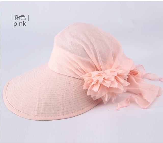 2017 новый roll up широкими полями Козырек Hat Женская Мода складная Цветок Пляж Большой Шляпе Леди Регулируемые Складные Sun Cap