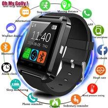 Смарт-часы телефон Bluetooth U8 Смарт-часы уведомление о синхронизации Подключение для телефонов на базе Android с Bluetooth Xiaomi умные часы как DZ09