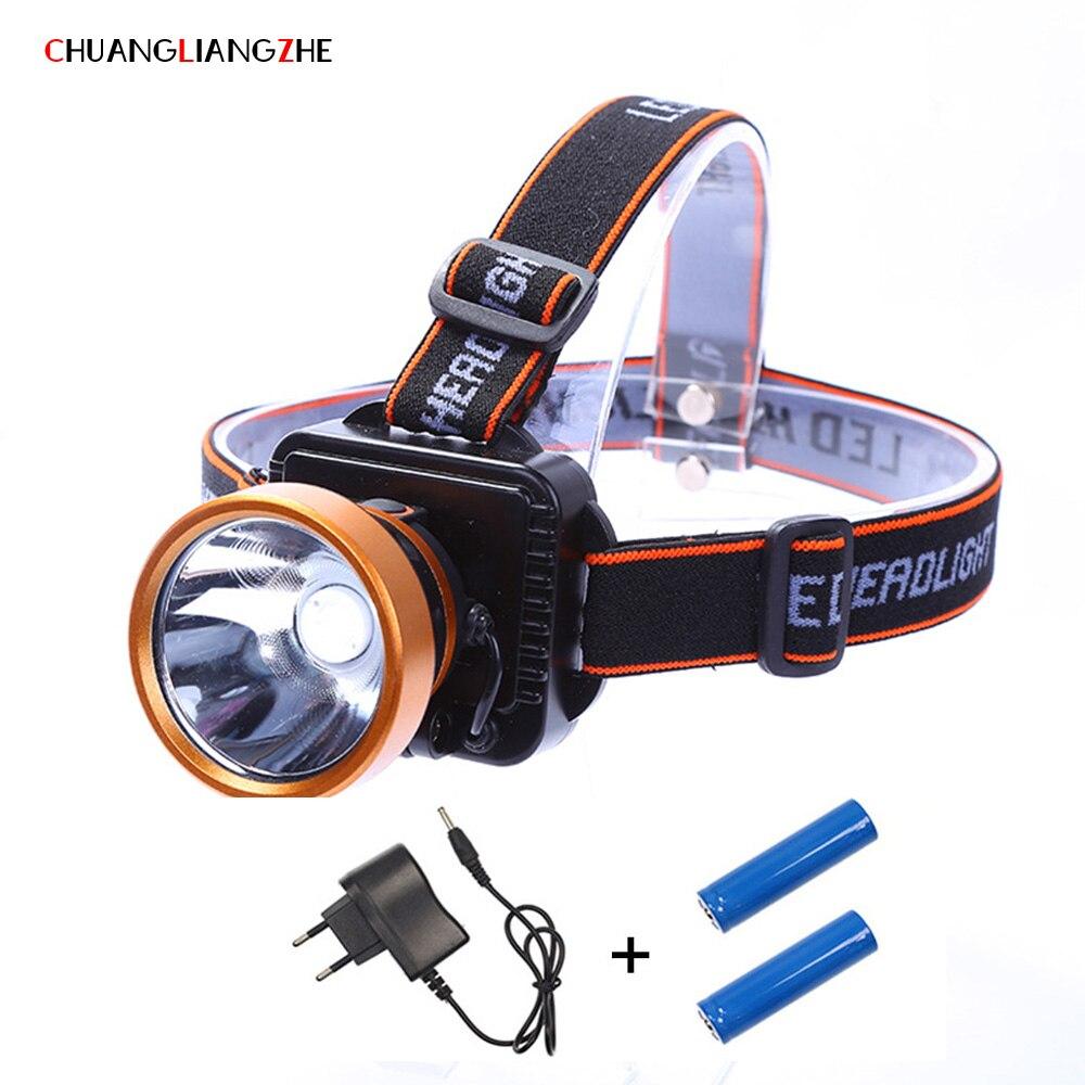 CHENGLIANGZHE T6 De Pêche Led Phare Longue-gamme De Charge Phare 18650 Batterie Étanche Camping En Plein Air Lampe pour La Chasse