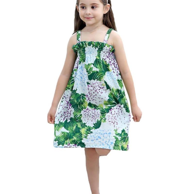 Baby Girls Dress Sleeveless Print Dresses Children Clothing 1-9YBaby Girls Dress Sleeveless Print Dresses Children Clothing 1-9Y