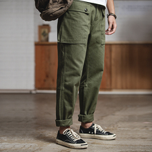 Maden Men's Relaxed Fit Straight Leg Cotton Casual Military Cargo work Pants