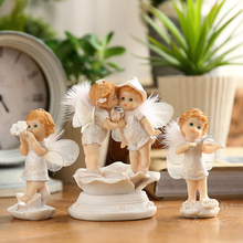 European Flower Fairy Angel Decoration Resin fairy Home Decoration Accessories Fairy Garden Miniatures Miniature Garden Figurine