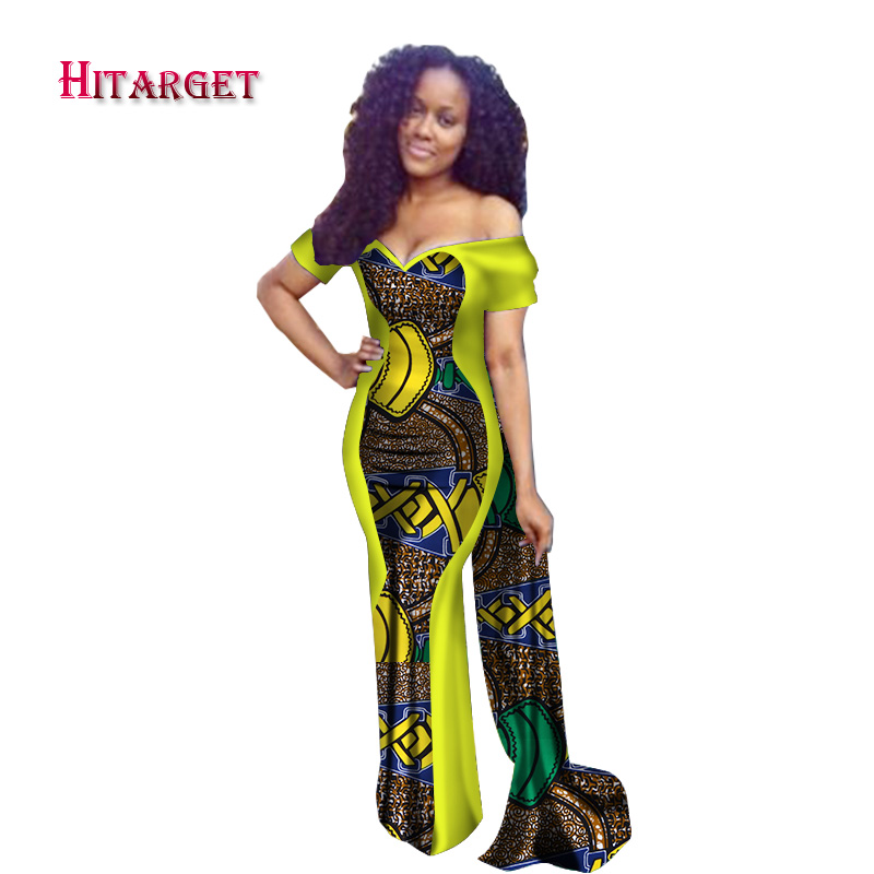 2019 Dresses for Women Bazin Riche Patchwork Cloak Straight Dresses Dashiki African Traditional Clothing Party,Wedding WY2530
