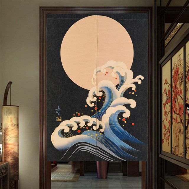 Japanese Style Canvas Door Curtains 2