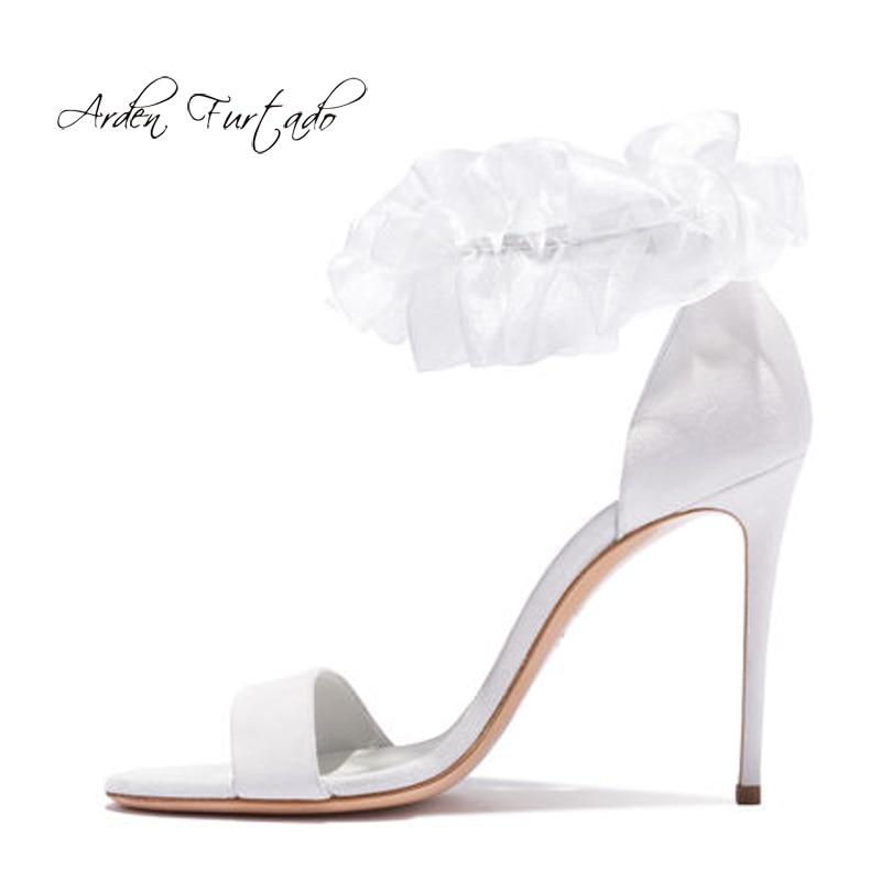 De 44 Cm 43 Correa Mujer 2018 El Gran Cubierta Tacones Blanco En 12 Zapatos  Tamaño Tobillo ... 9f1da68b4855