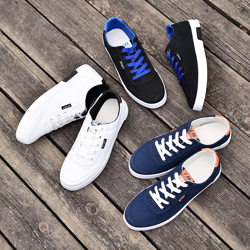Zapatos Primavera Tenis azul 2018 Encaje De Hombre Cómodo Masculino blanco Casuales Moda Negro Adulto Blanco Calzado Bajos qEx551w4z