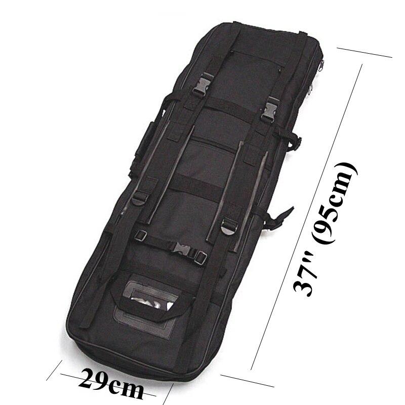 SWAT 95 cm double tactique robuste sac à bandoulière multi-fonction messenger chasse fusil étui de transport pour fusil à fusil