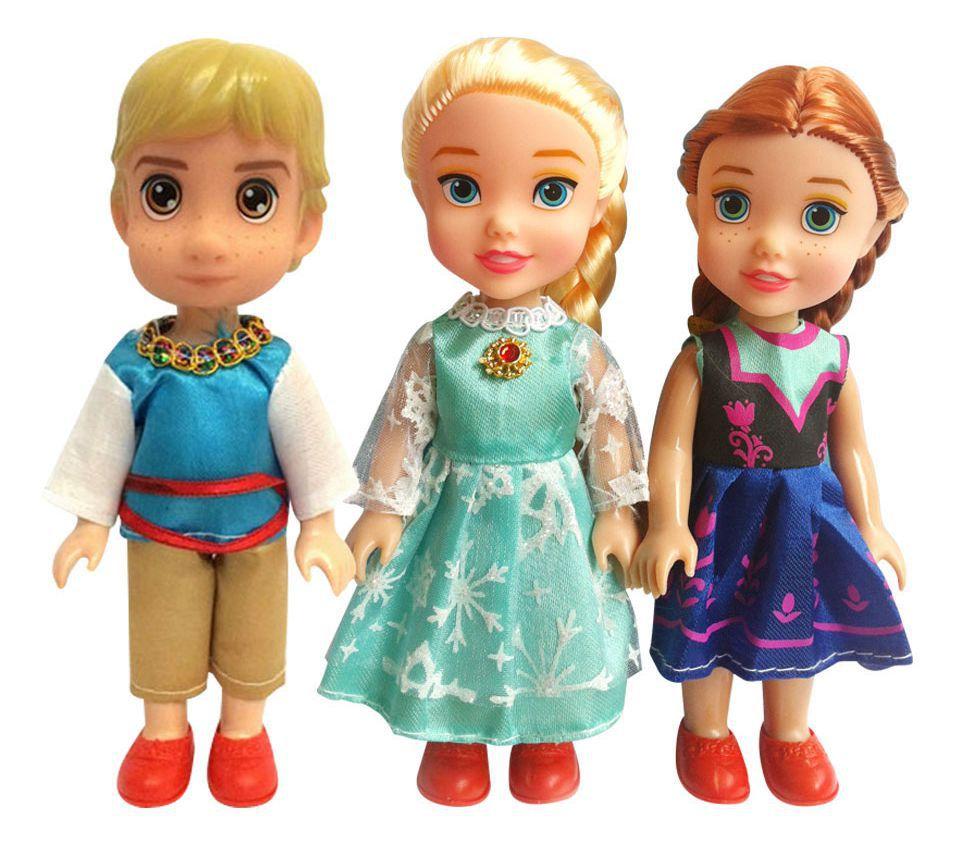 Disney Kid Toys 3pcs/Set 16cm Frozen Princess Elsa Anna