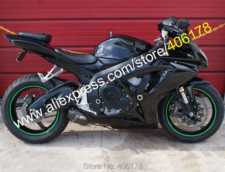 Hot Sales,For Suzuki GSX R600 GSX R750 K6 06 07 GSX-R 600 GSX-R 750 2006 2007 All Black Motorcycle Fairing (Injection molding) hot sales for 2006 2007 suzuki k6 gsxr 600 gsxr 750 jordan 06 07 gsx r600 gsx r750 custom bodywork fairing injection molding