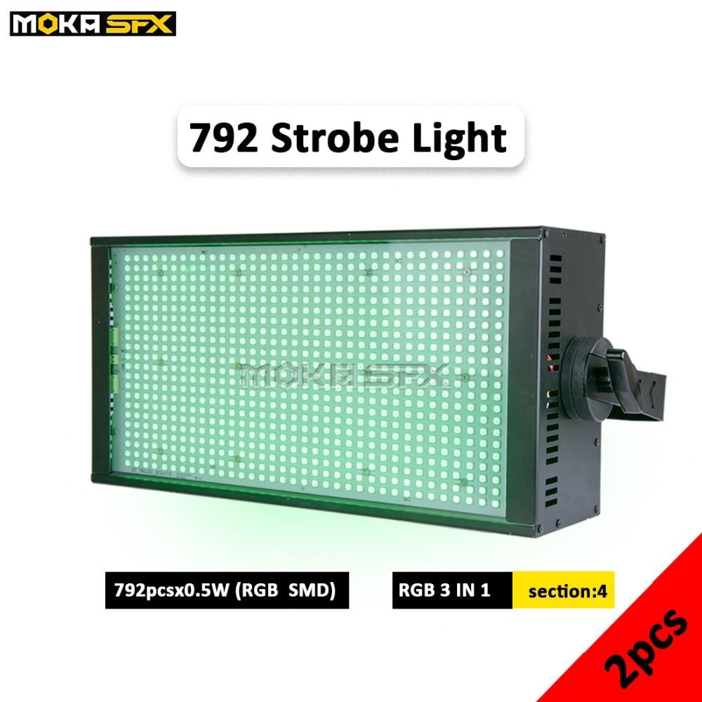 2pcs/lot 792 Leds Strobe Light High Brightness Dj Strobe Lights RGB Color DMX Strobe Lights For DJ Birthday Party Wedding Show
