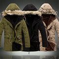 Men Coat 2016 Hot Sale Men's Solid Causal Long Warm Coat Male Fashion Padded Hooded Winter Wear Thick Coat