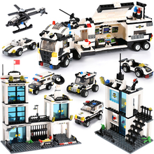 KAZI Toy 536pcs Police Station Education Block  Toys Maritime Building Block Set Figures Bricks Boys Toys Compatible With Lepin недорго, оригинальная цена