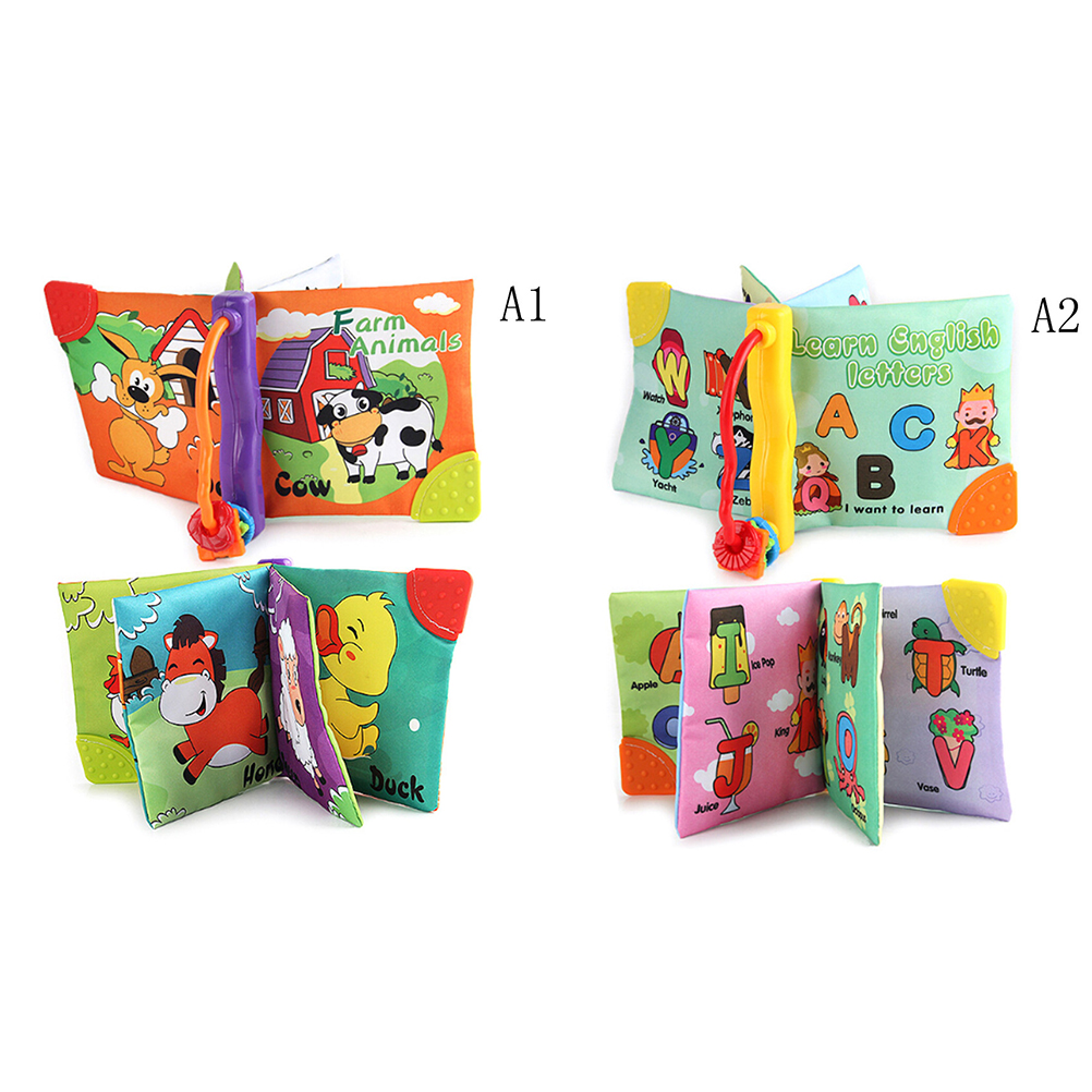 Early Educational Quiet Books Infant Christmas Gift Baby Soft Cloth ...