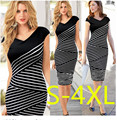 S-4XL NEW Summer Women Dress 2016 Fashion Sexy Party Dresses Sleeveless Stripe Casual Dresses Plus Size Cotton Dress Vestidos