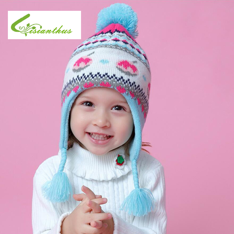 Baby Winter Hat Toddler Kids Hat Cartoon Ear Warm Crochet Knit Hat Beanie Cap