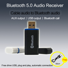 Bluetooth 5.0 audio receiver Stereo USB adapter Wireless blu